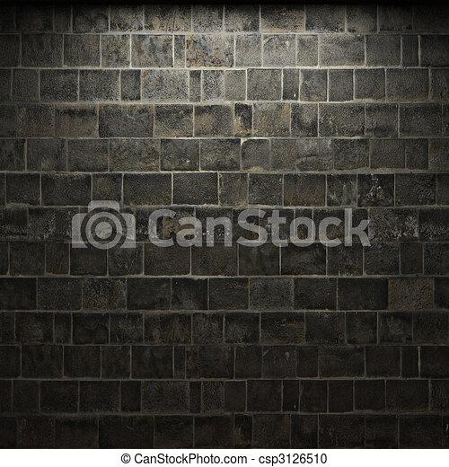 illuminated stone wall - csp3126510