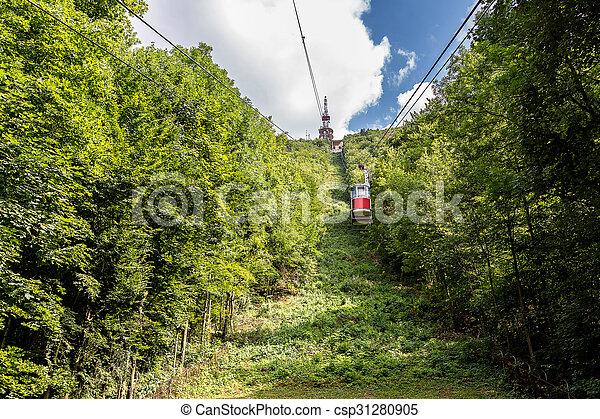 Cable car in Brasov