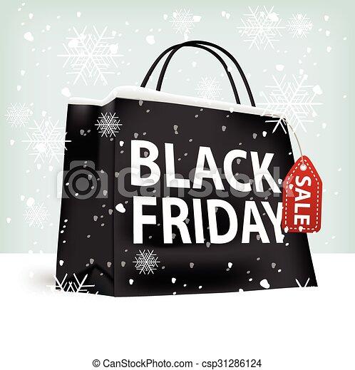 black friday shopping bag - csp31286124
