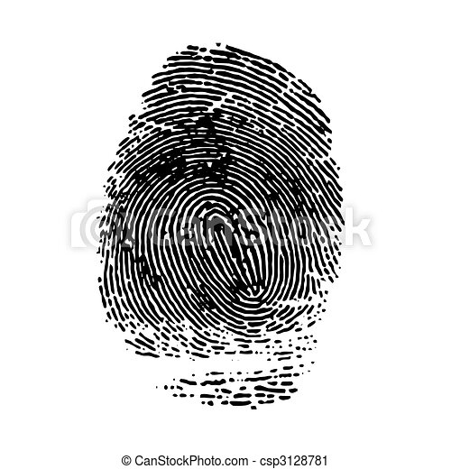 imprint  of index finger. Vector illustration - csp3128781