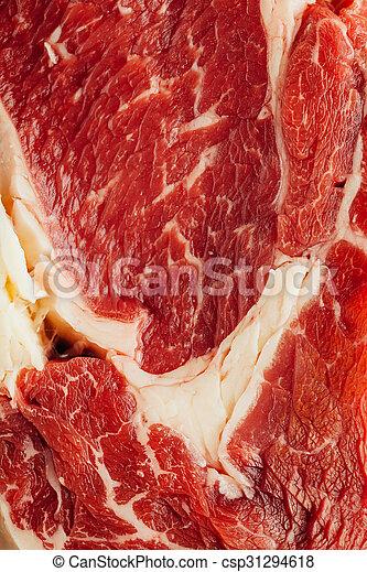 fresh raw meat texture, closeup view - csp31294618