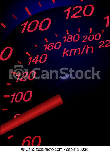 Sport car speedometer. Vector illustration - csp3130038