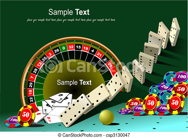 Roulette table and casino elements - csp3130047