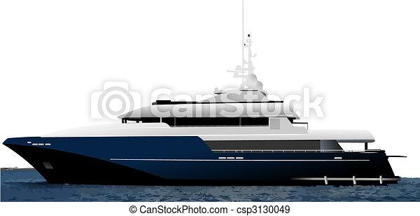Black blue ocean yacht - csp3130049
