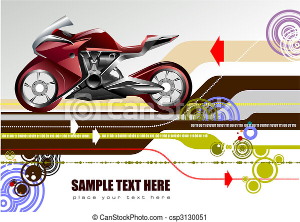 Illustrations of motorcycle - csp3130051