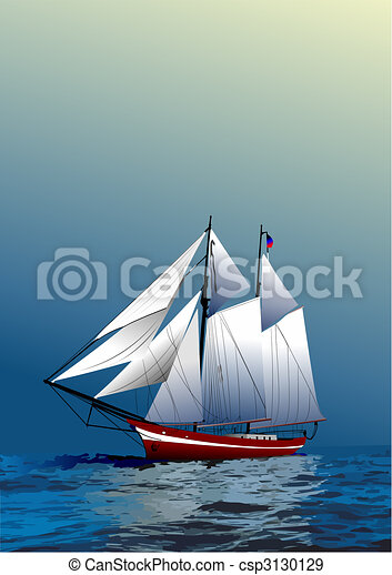 Cover for brochure with old sailing vessel - csp3130129