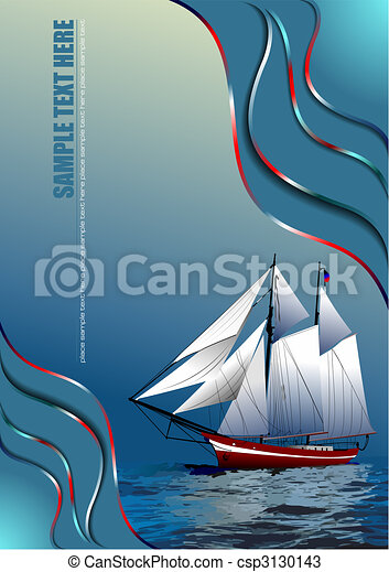 Cover for brochure with old sailing vessel - csp3130143