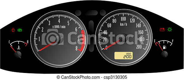 Speedometer. Accelerating Dashboard. Includes - csp3130305