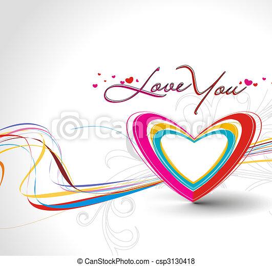 valentine\'s day card - csp3130418