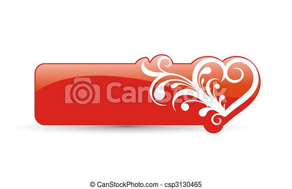 valentine\'s day card  - csp3130465