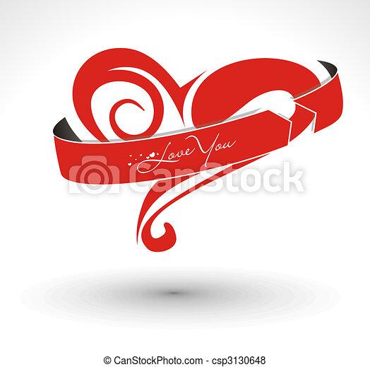 valentine\'s day card  - csp3130648