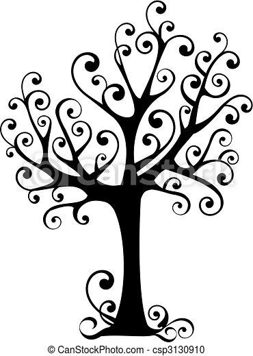 tree with swirls - csp3130910