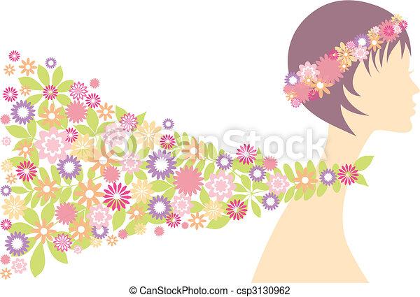 spring woman - csp3130962