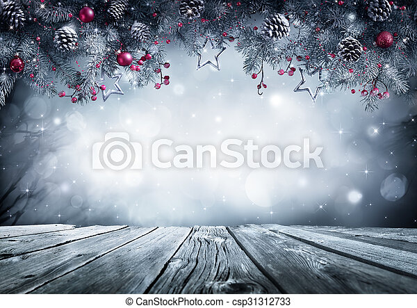 Winter Background With Frost Fir