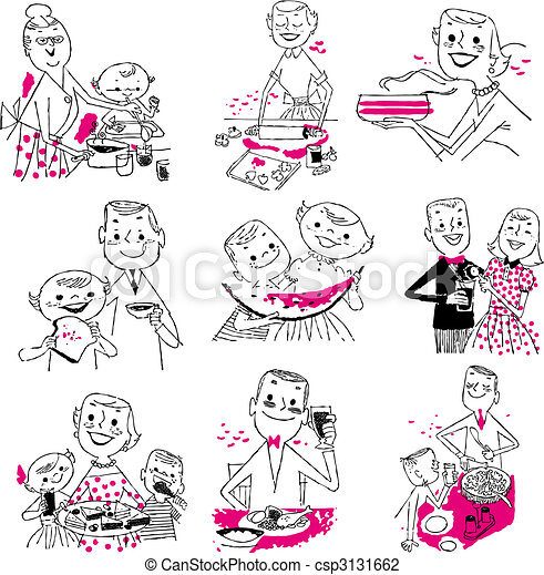 Hand drawn cooking doodles. Vector illustration cartoon. - csp3131662