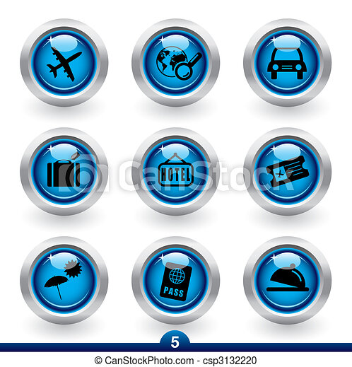 Icon series 5 - travel - csp3132220