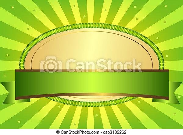 Green Easter card (vector EPS 10) - csp3132262