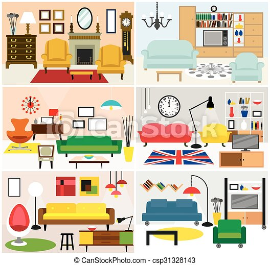 eps vektor von lebensunterhalt m bel zimmer ideen cartoon wohnzimmer csp31328143. Black Bedroom Furniture Sets. Home Design Ideas