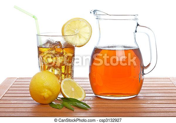 Ice tea pitcher and tumbler - csp3132927