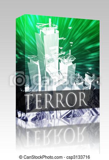 Terror terrorism box package - csp3133716
