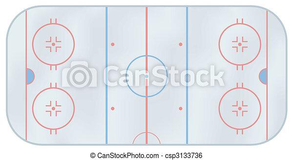 Ice hockey rink - csp3133736