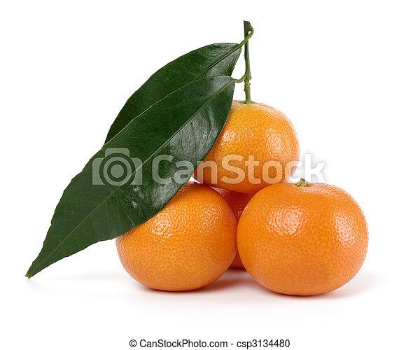 Small heap of ripe mandarins - csp3134480