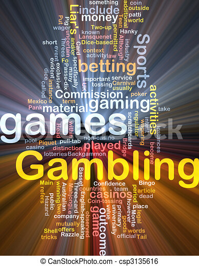 Gambling betting background concept glowing - csp3135616