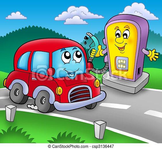 illustrations de mignon station essence voiture mignon voiture csp3136447. Black Bedroom Furniture Sets. Home Design Ideas