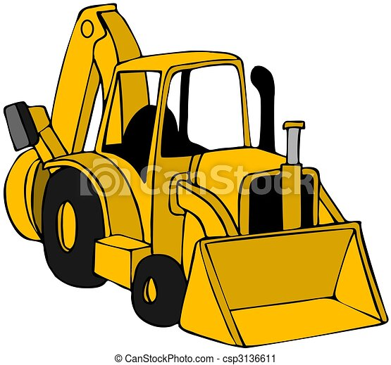 Clip Art Backhoe Clipart backhoe clipart and stock illustrations 1224 vector eps this illustration depicts a yellow construction