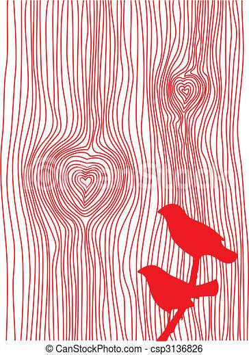 wood grain heart - csp3136826