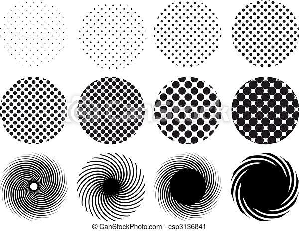 halftone circles - csp3136841