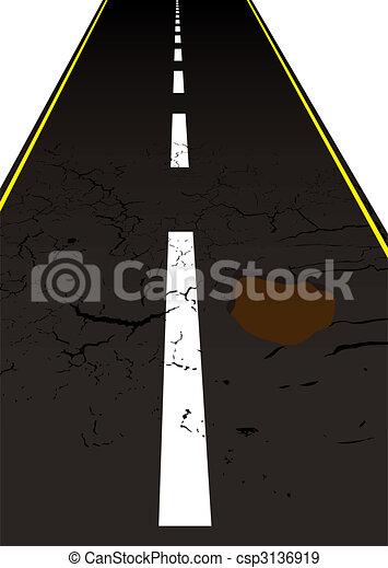 road pot hole - csp3136919