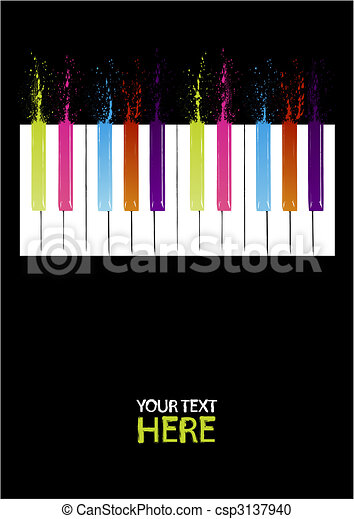 Spectrum piano keys - csp3137940