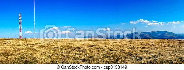 landscape with antenna - csp3138149