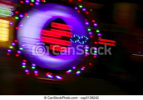 Gambling casino motion blur colorful lights - csp3138242