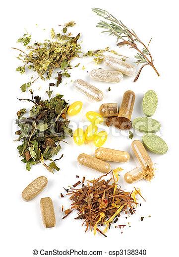 Herbal supplement pills - csp3138340
