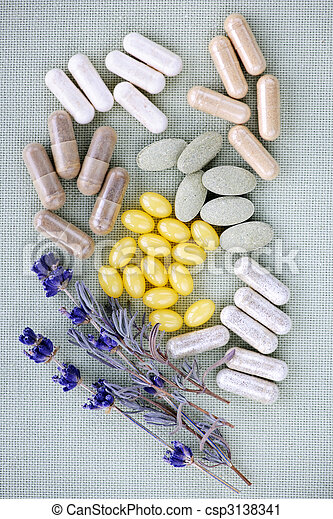 Herbal supplement pills - csp3138341