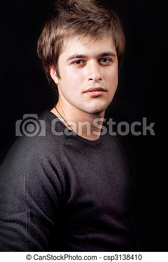 sujeito, jovem, masculino, bonito - csp3138410