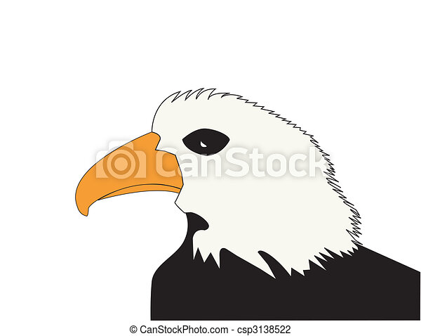 Clip Art of American Bald Eagle patriotic animal symbol of ...