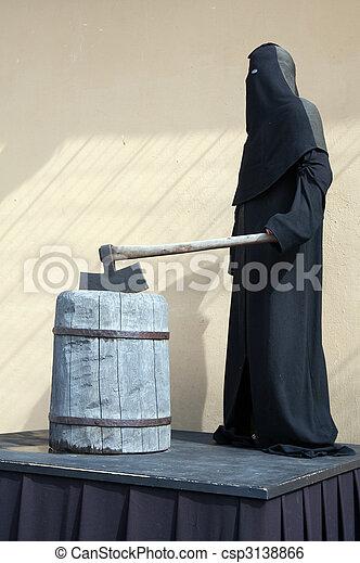 Medieval headsman - csp3138866