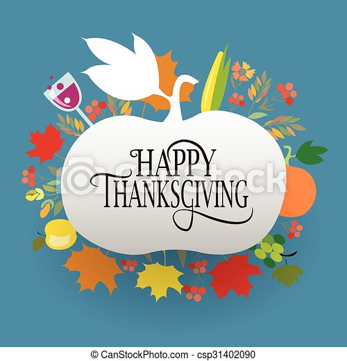 Happy Thanksgiving Day logotype, badge and icon