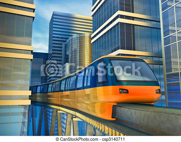 monorail train - csp3140711