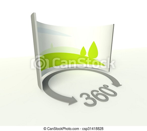 Clip Art of Spherical 360 panorama icon, symbol and sign ...