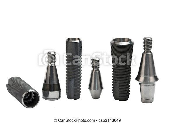 dental implants - csp3143049
