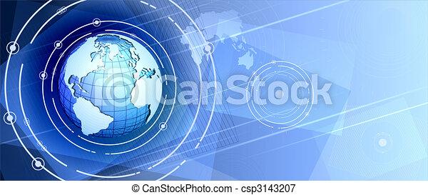 communication, mondiale - csp3143207