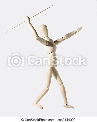 throwing the javelin - csp3144099