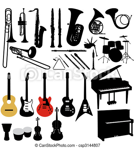 music instruments collection - csp3144807