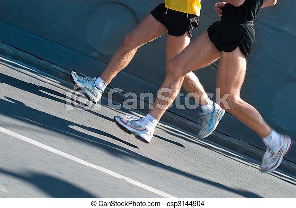 Marathon runners - csp3144904