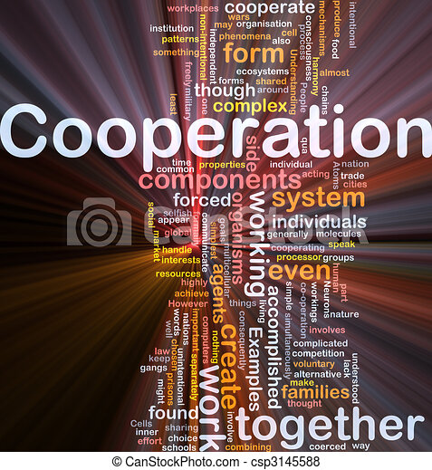 Cooperation management background concept glowing - csp3145588