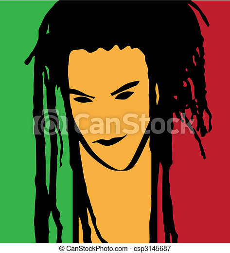 rastaman portrait - csp3145687